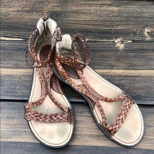 B.O.C. Braided Back Zip Gladiator Sandal